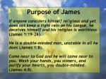 purpose of james10