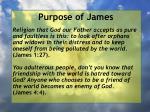 purpose of james5