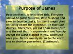 purpose of james6