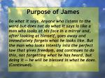 purpose of james7