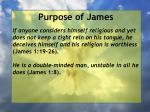 purpose of james9