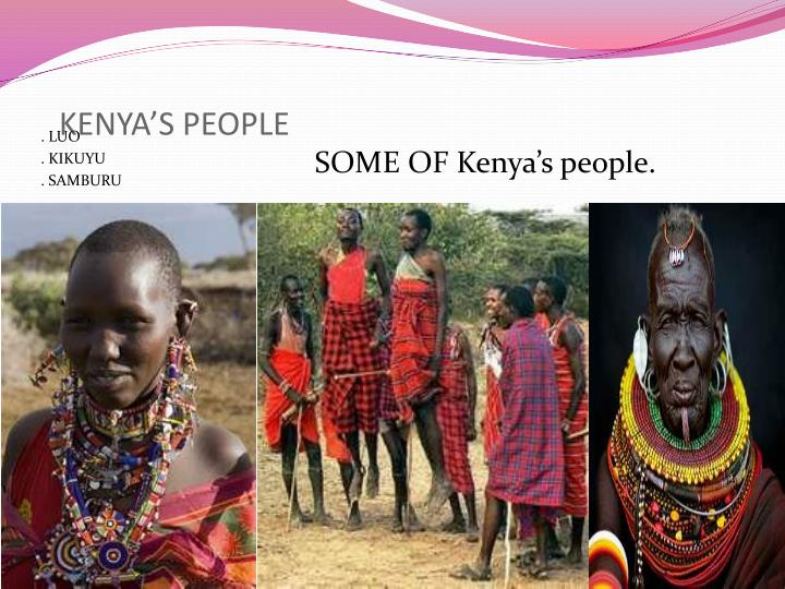 KENYA'S PEOPLE