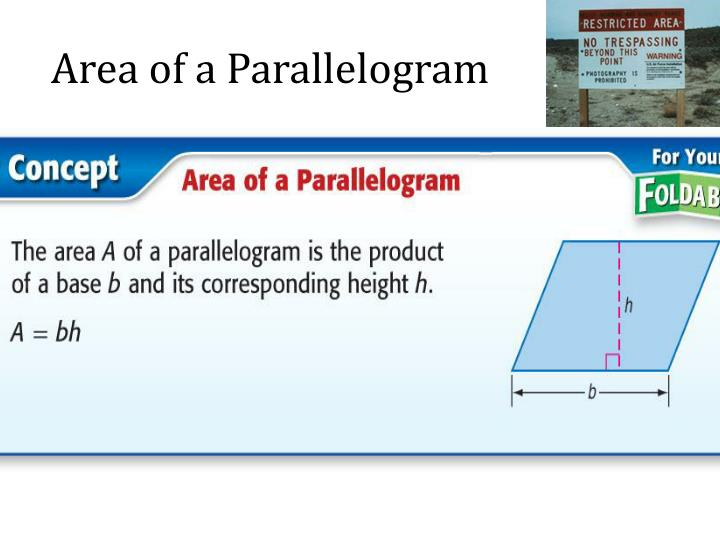 Area of a Parallelogram