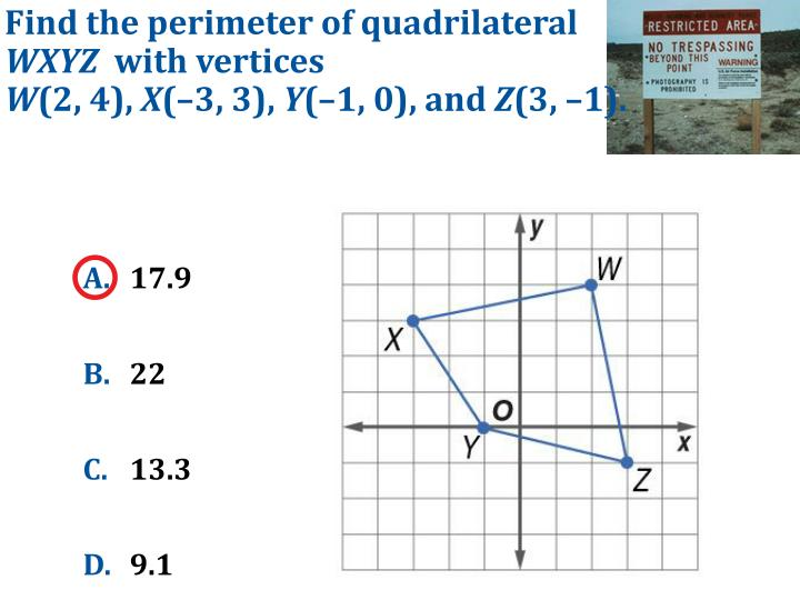 Find the perimeter of quadrilateral