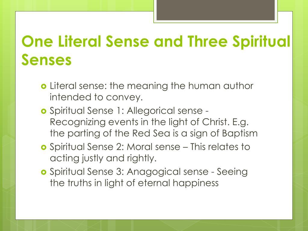 Spiritual Senses Meaning