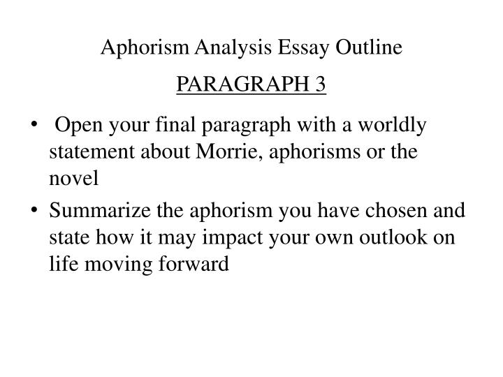outlook in life essay