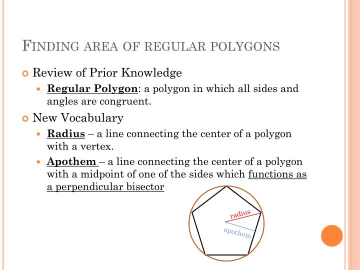 Finding area of regular polygons