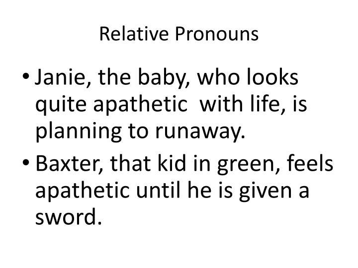 Relative Pronouns