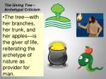the giving tree archetypal criticism