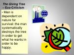 the giving tree eco criticism