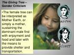 the giving tree gender criticism