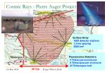 cosmic rays pierre auger project