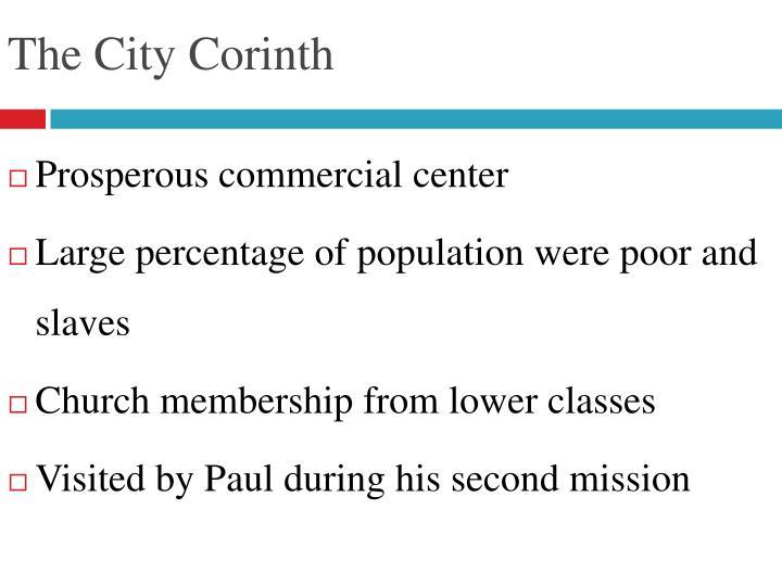 The city corinth