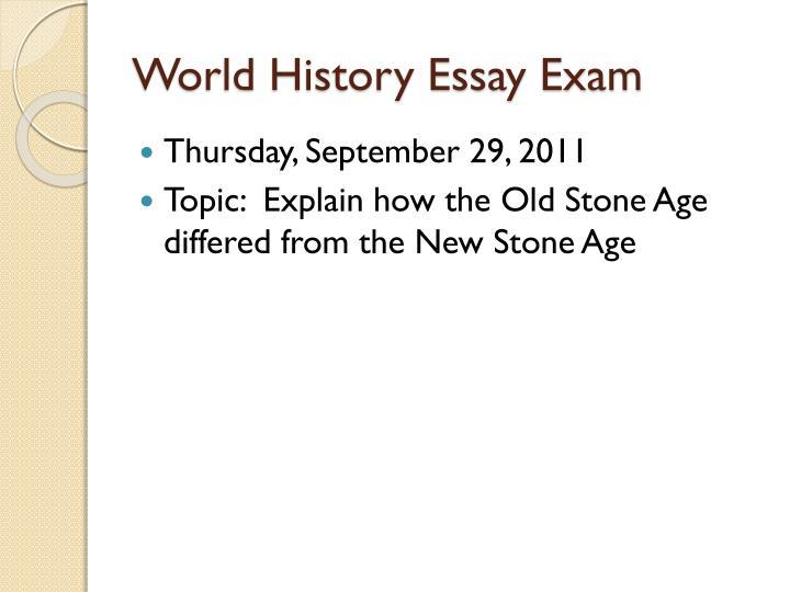 World History Essay Exam