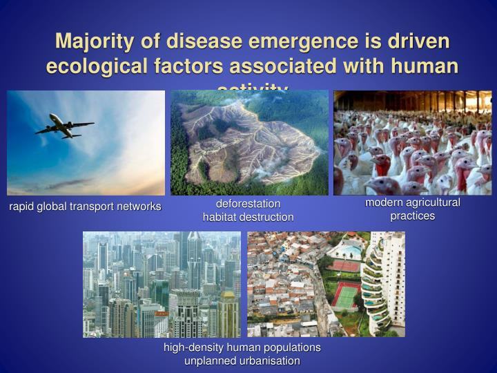 Majority of disease emergence is driven ecological factors associated with human activity