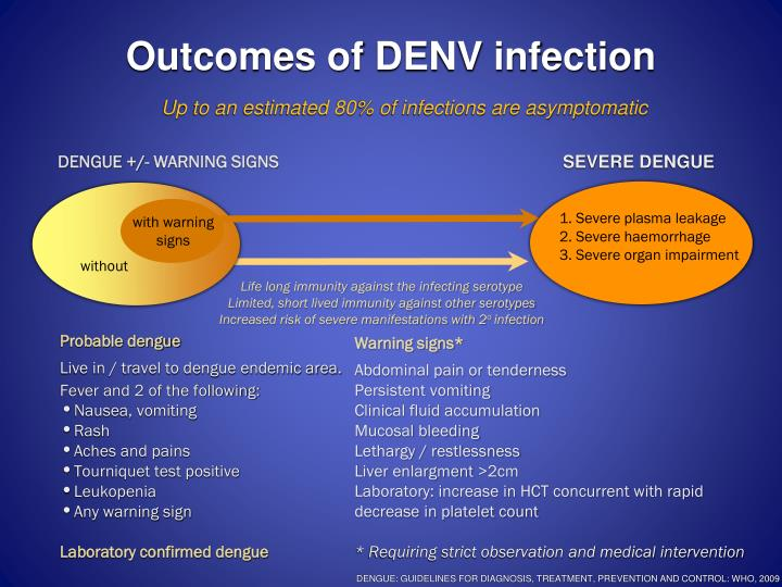 Outcomes of DENV infection