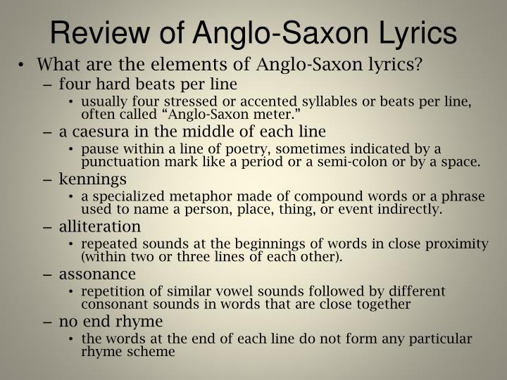 Review of Anglo-Saxon Lyrics