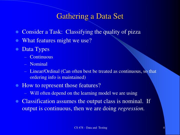 Gathering a Data Set