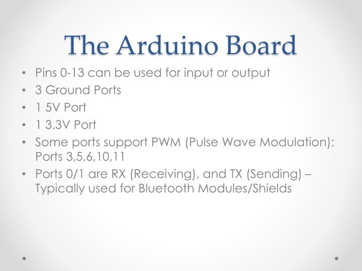 The arduino board1