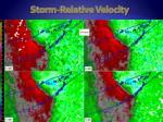 storm relative velocity