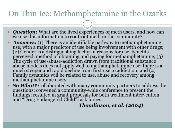 On Thin Ice: Methamphetamine in the Ozarks
