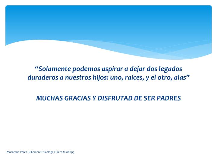 Macarena Pérez Bullemore Psicóloga Clínica M-06895