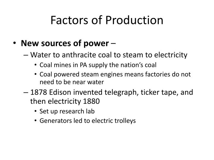Factors of production1
