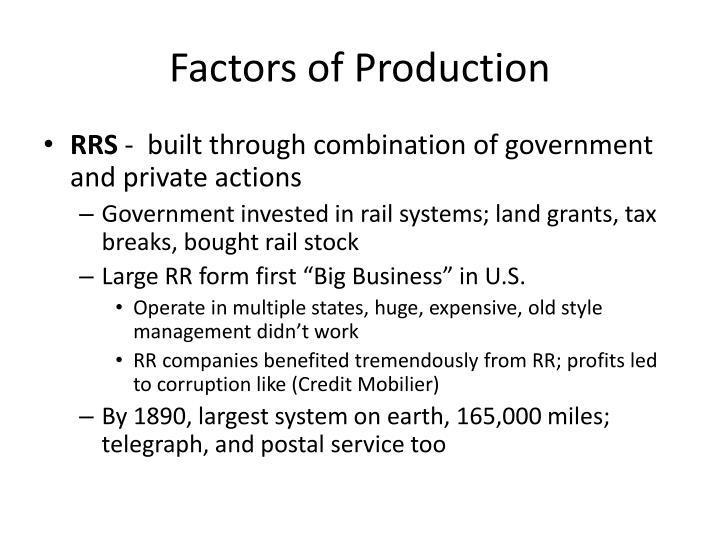 Factors of production2