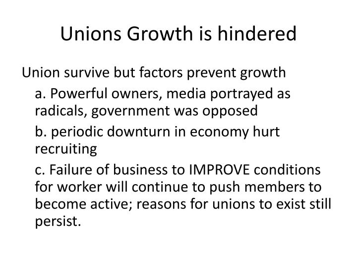 Unions Growth