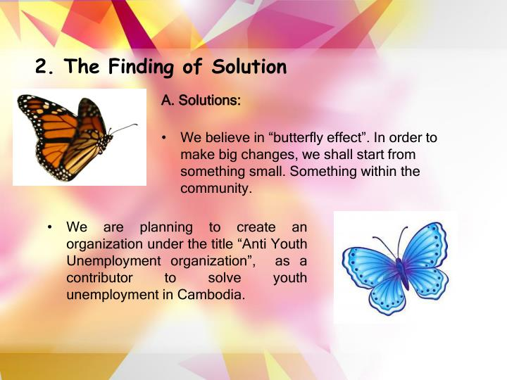 2. The Finding of Solution