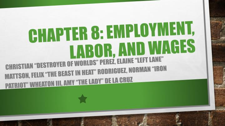 chapter 8 employment labor and wages n.