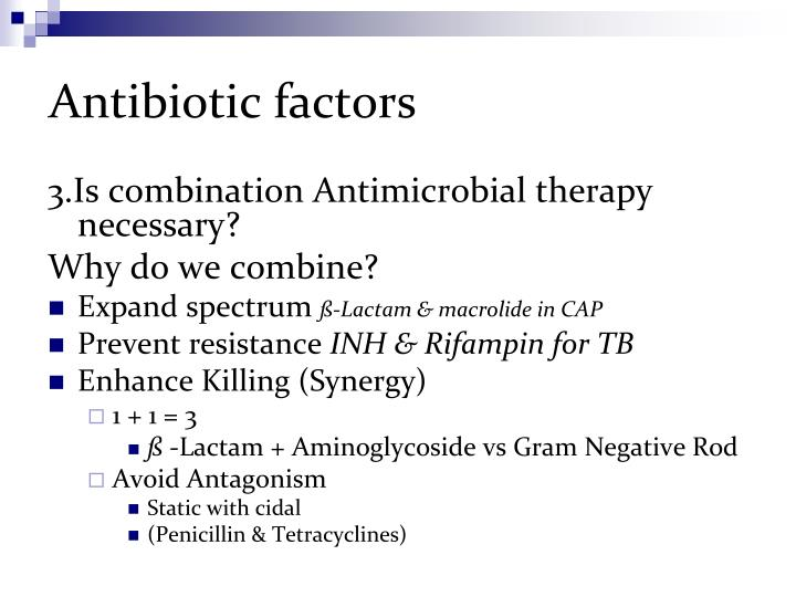 Antibiotic factors