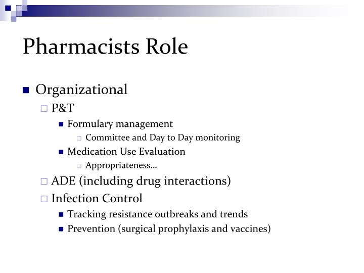 Pharmacists Role