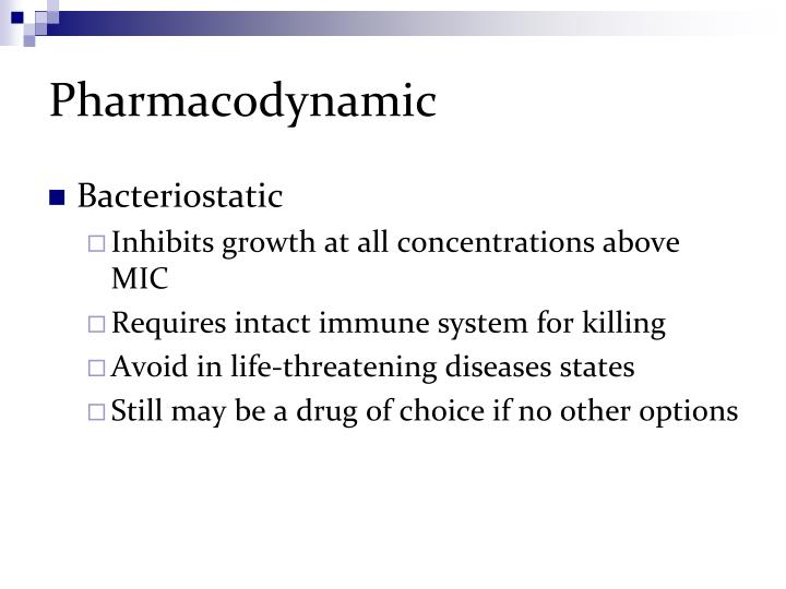Pharmacodynamic