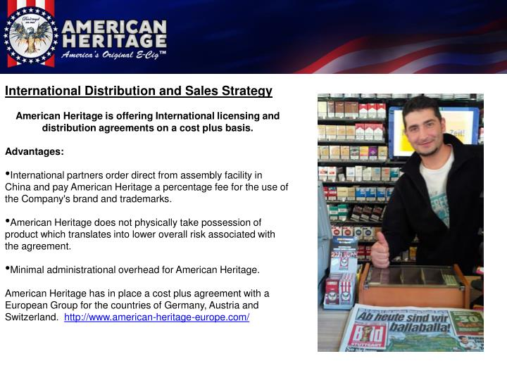 International Distribution and Sales Strategy