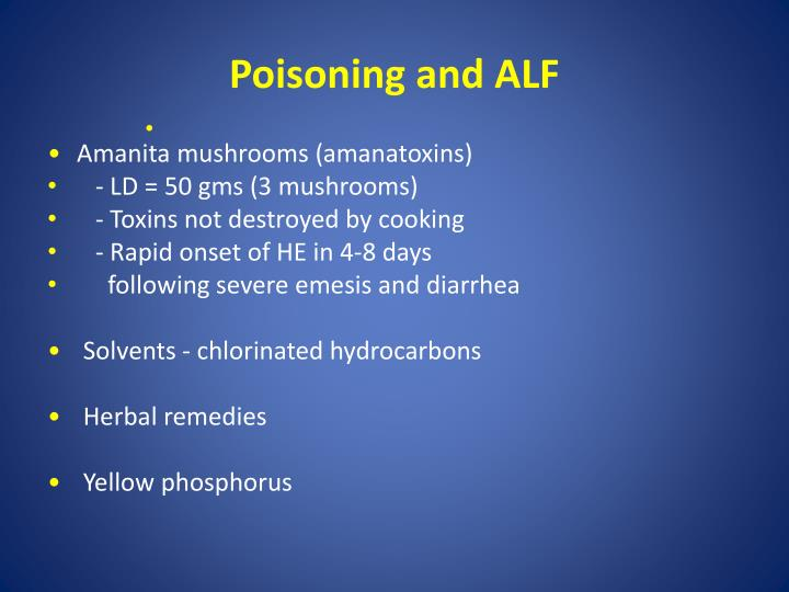 Poisoning and ALF