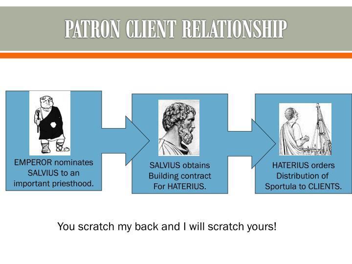 Patron client relationship