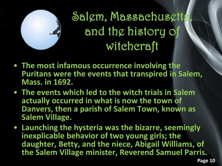 Salem, Massachusetts, and the history of witchcraft