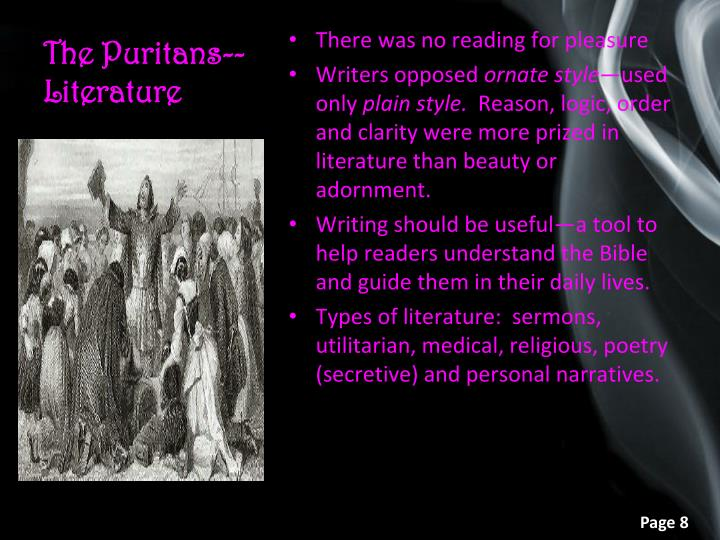 The Puritans--Literature