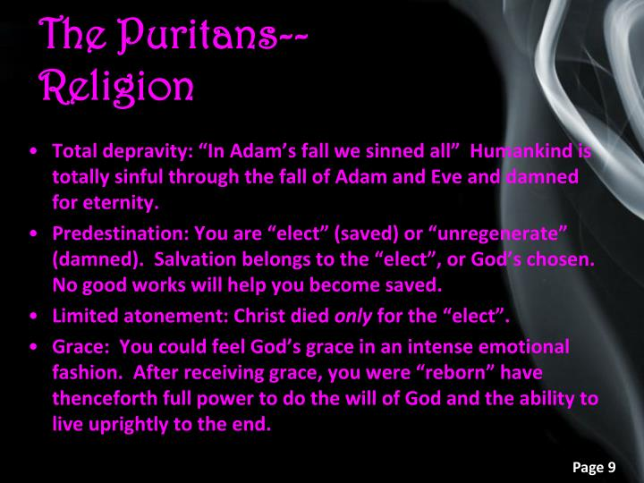 The Puritans--Religion