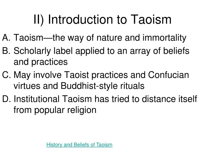 II) Introduction to Taoism