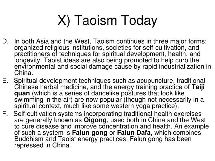 X) Taoism Today