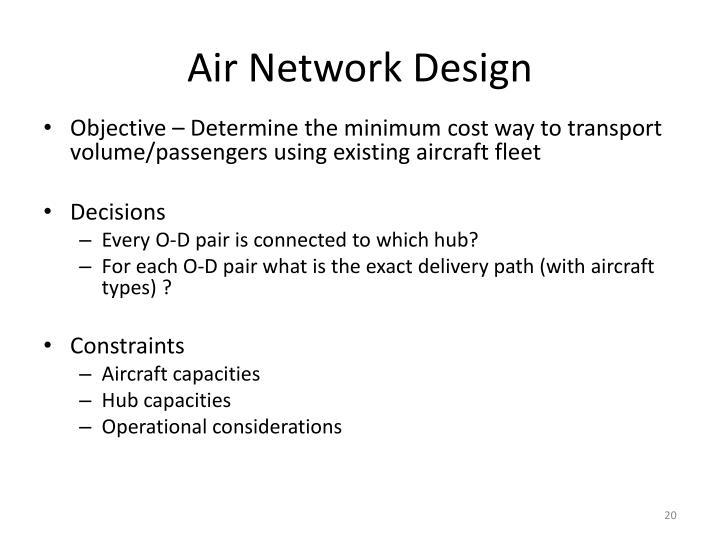 Air Network Design