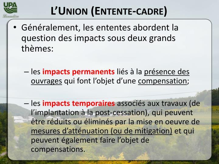 L'Union (Entente-cadre)