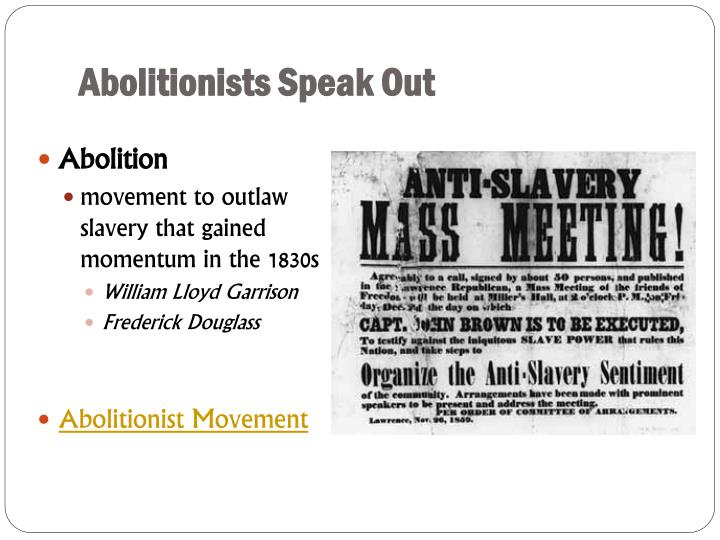 Abolitionists Speak