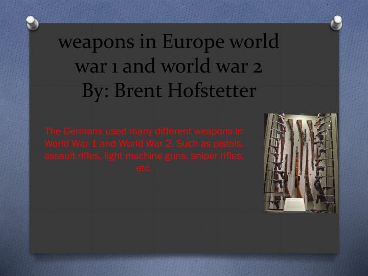 the political advantages of weaponry in world war ii United states military weapons of war advantages of this weapon this is the same basic weapon used by the fbi's hostage rescue team and other world-class.