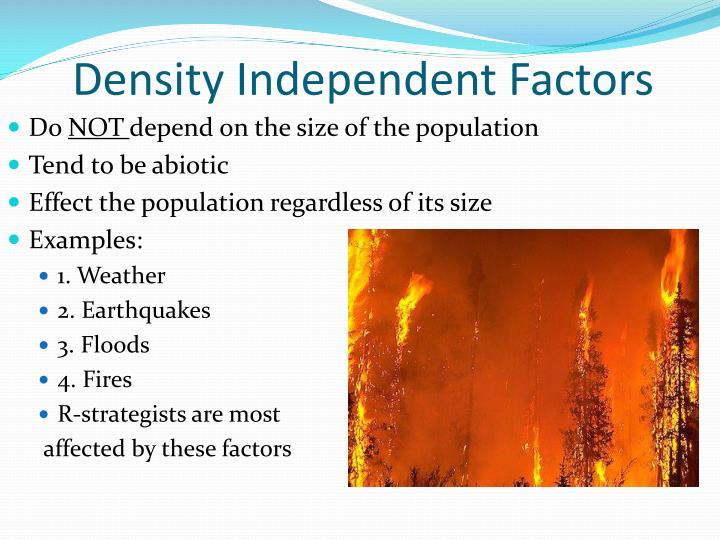 Density Independent Factors