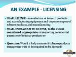 an example licensing