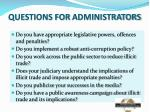 questions for administrators