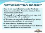 questions on track and trace